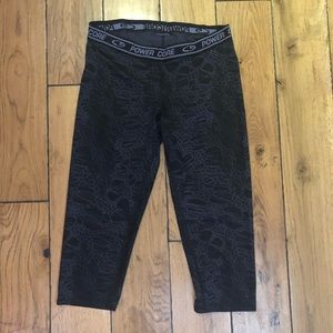 Power Core Cropped Exercise Leggings
